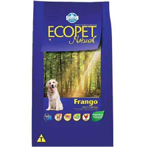 Ração Farmina Ecopet Natural Frango Cães Adultos Raças Médias e Grandes 15kg