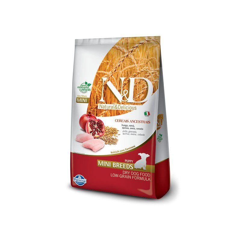 Ração Farmina N&D Ancestral Grain Frango Cães Adultos Raças Pequenas 800gr