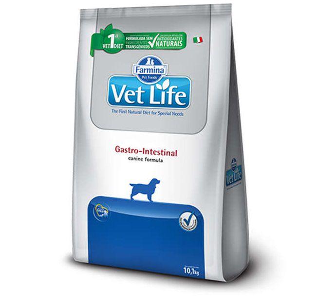 Ração Farmina Vet Life Natural Gastro-Intestinal Cães Adultos 10,1kg