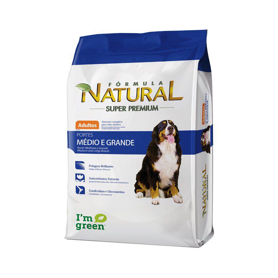 Ração Fórmula Natural para Cães Adultos Porte Médio e Grande - 20 KG