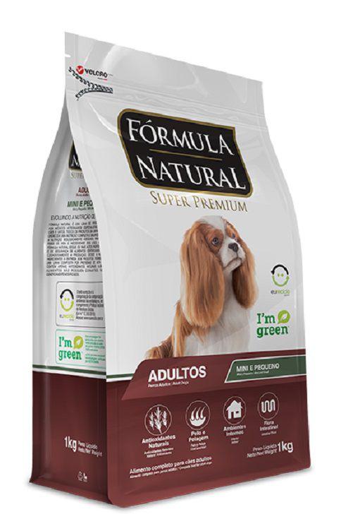 Ração Fórmula Natural para Cães Adultos Porte Mini e Pequeno - 7 KG