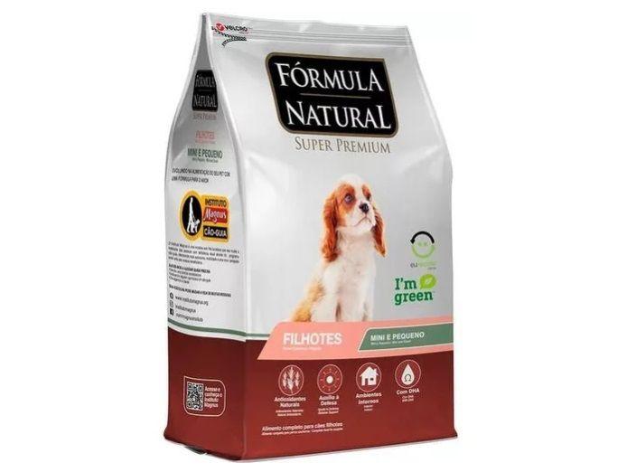 Ração Fórmula Natural para Cães Filhotes de Porte Pequeno e Mini - 7 KG