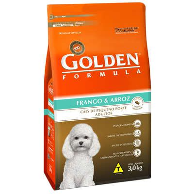 Ração Golden Fórmula Cães Adultos Frango e Arroz Mini Bits - 3KG