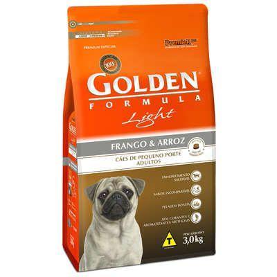 Ração Golden Fórmula Cães Adultos Light Frango e Arroz - 3 KG