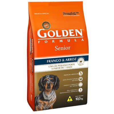 Ração Golden Fórmula Cães  Sênior Frango e Arroz Mini Bits - 10,1 KG