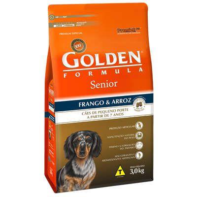 Ração Golden Fórmula Cães Sênior Frango e Arroz Mini Bits - 3 KG