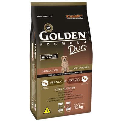 Ração Golden Fórmula Duo Cães Adultos Carne e Frango - 15KG