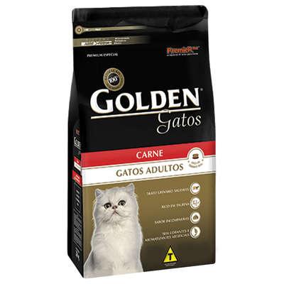 Ração Golden Gatos Adultos Carne - 10,1 KG
