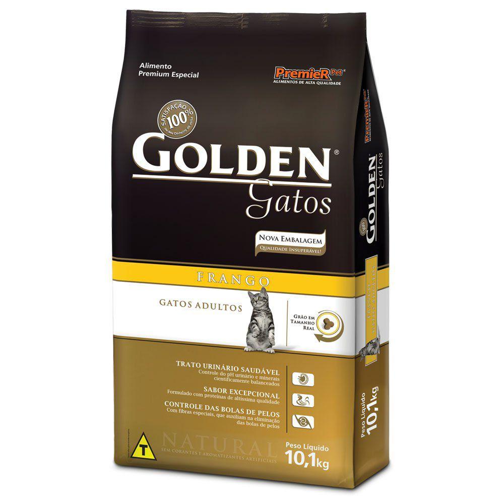 Ração Golden Gatos Adultos Frango - 10,1 KG