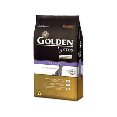 Ração Golden Gatos Adultos Salmão - 10,1 KG
