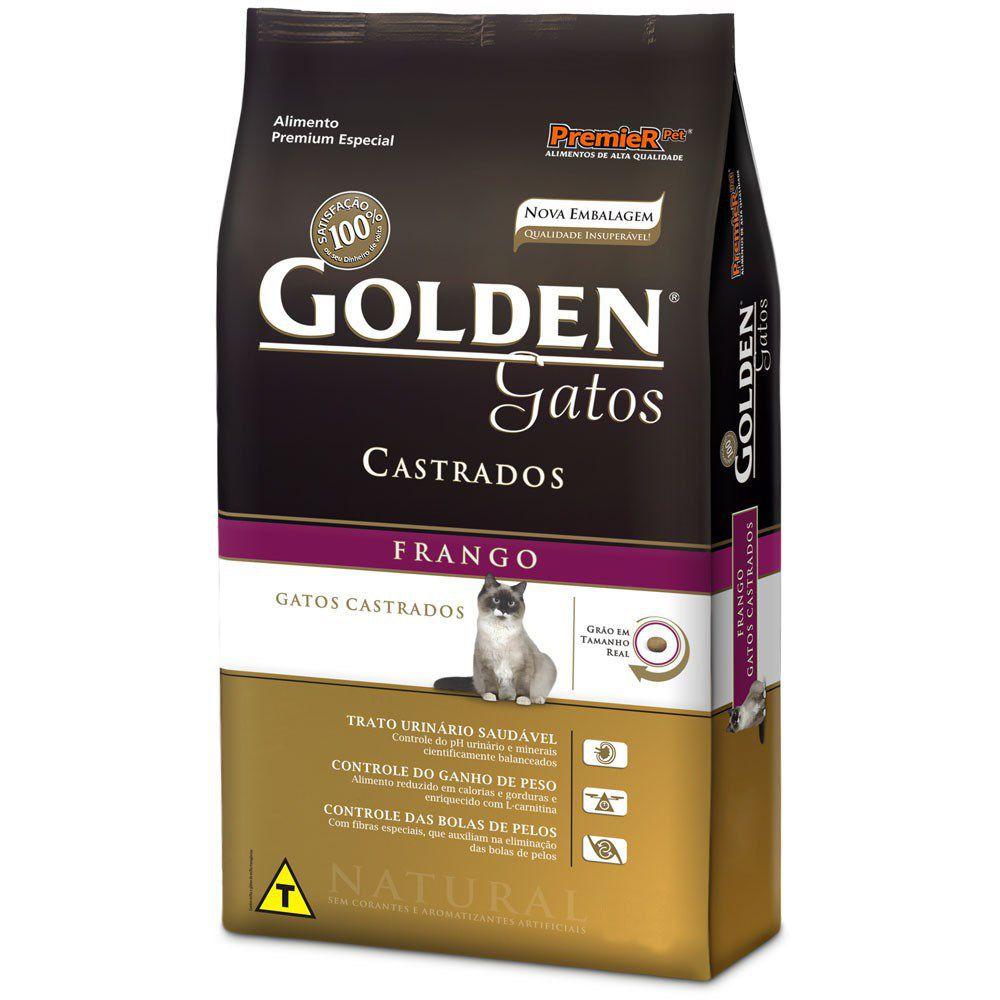 Ração Golden Gatos Castrados Frango - 3 KG