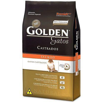 Ração Golden Gatos Castrados Salmão - 3KG