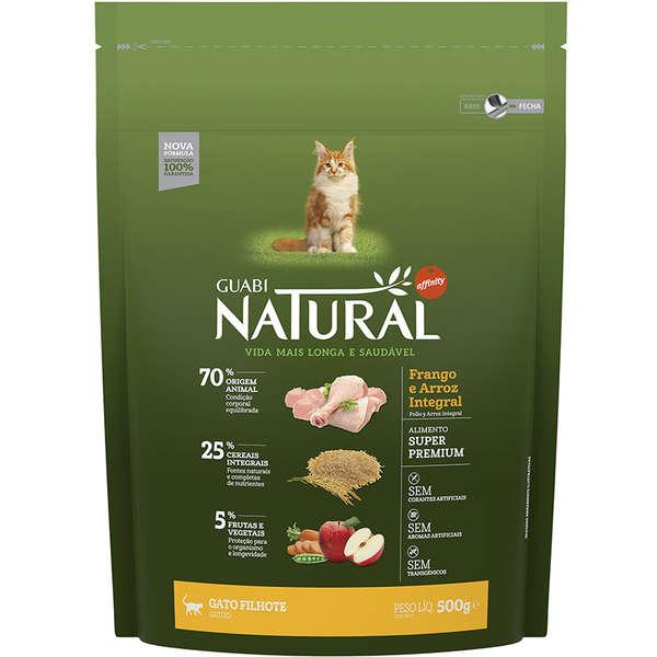 Ração Guabi Natural Frango e Arroz Integral Gatos Filhotes 500g