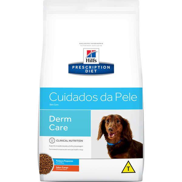 Ração Hill`s Prescription Diet Pedaços Pequenos Cuidados com a Pele Cães Adultos 7,5kg