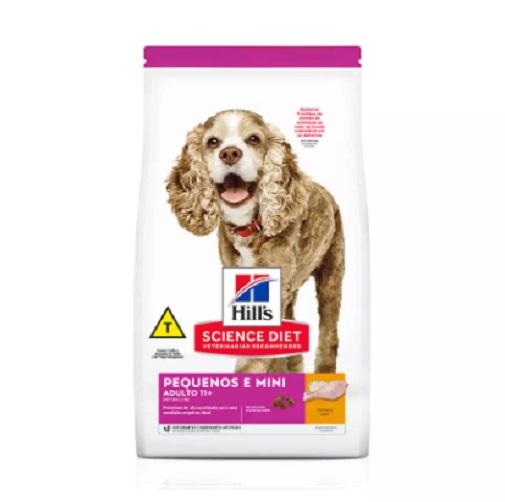 Ração Hills Cães Adultos 11+ Pedaços e Miniaturas 2,4kg