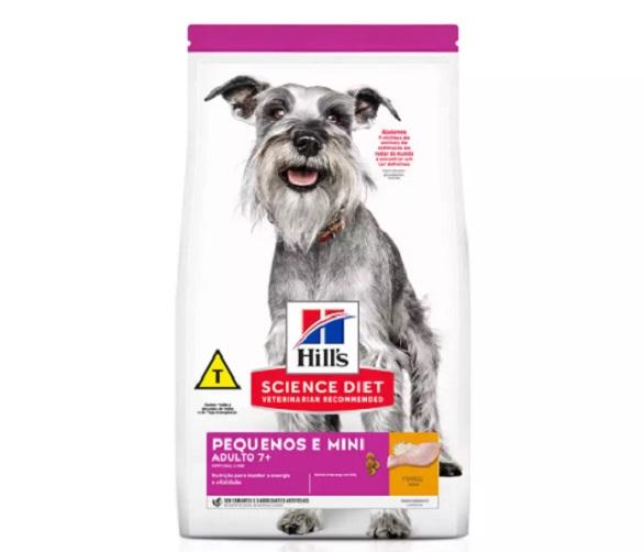 Ração Hills Cães Adultos 7+ Pedaços Pequenos e Miniaturas 2,4kg