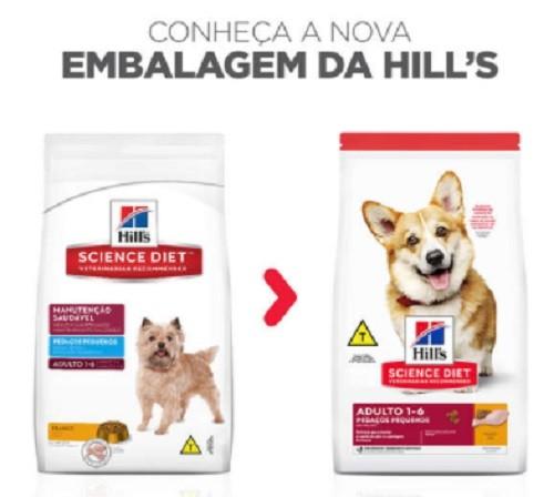 Ração Hills Cães Adultos Pedaços Pequenos - 12 KG