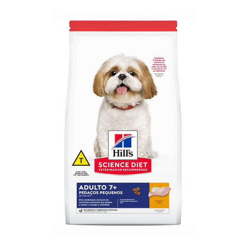 Ração Hills Cães Adultos Pedaços Pequenos 7+ 2,4kg