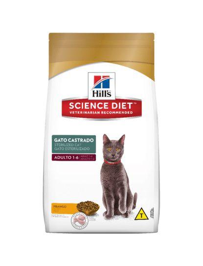 Racao Hills Feline Adulto Castrados 7,5KG