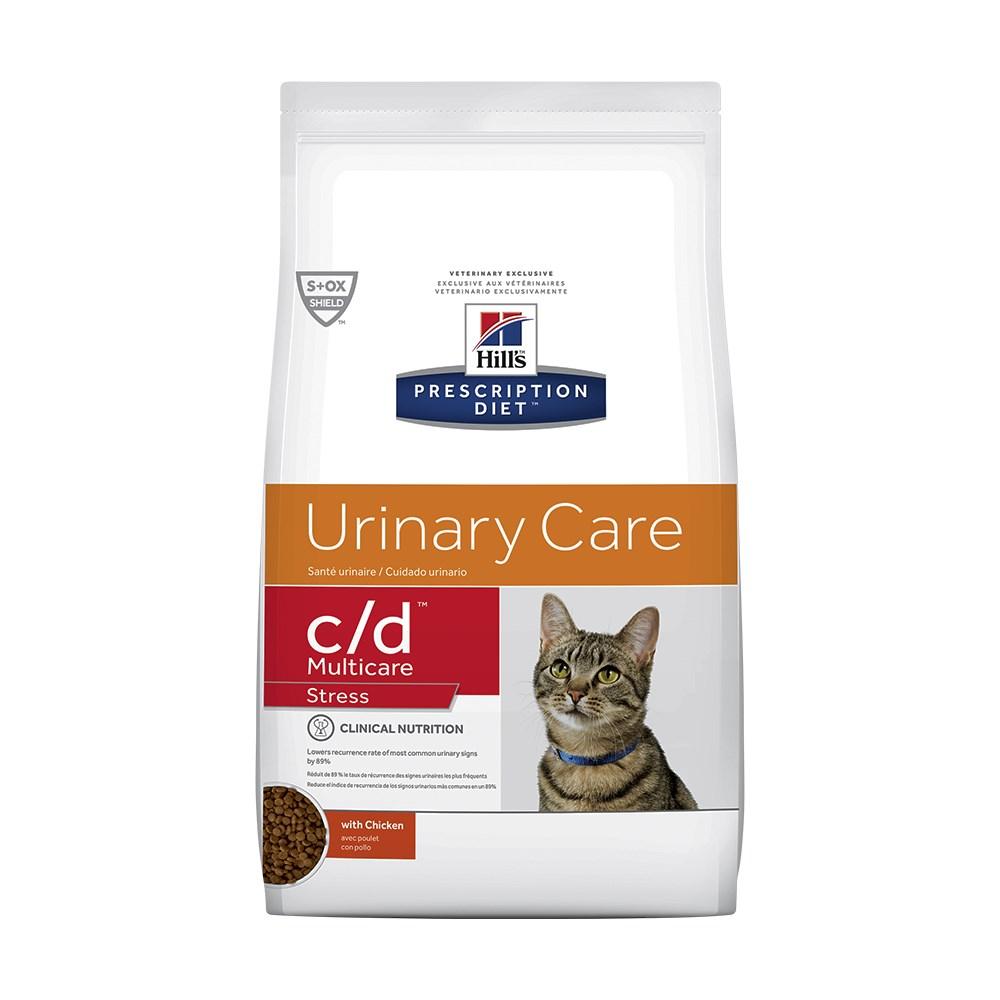 Ração Hills PD C/D Multicare Stress Cuidado Urinário Gatos Adultos Doenças Renais 3,85 Kg