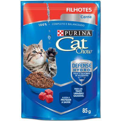 Ração Nestlé Purina Cat Chow Filhotes Sachê Carne ao Molho 85gr