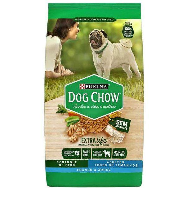 Ração Nestlé Purina Dog Chow Cães Adulto Controle Peso Sabor Frango E Arroz 15kg