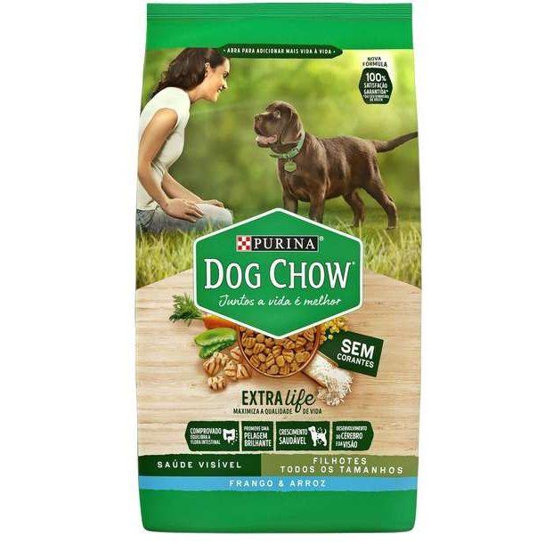 Ração Nestlé Purina Dog Chow Cães Filhotes Todos Tamanhos Frango e Arroz 15k