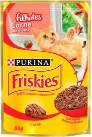 Ração Nestlé Purina Friskies Sachê Carne ao Molho para Gatos Filhotes 85gr