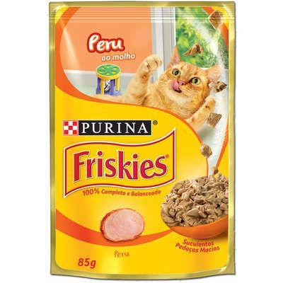 Ração Nestlé Purina Friskies Sachê Peru ao Molho para Gatos 85gr