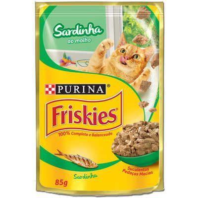 Ração Nestlé Purina Friskies Sachê Sardinha ao Molho para Gatos 85gr