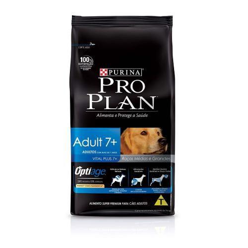 Ração Nestlé Purina Pro Plan Adulto 7 + Completo para Cães 15kg