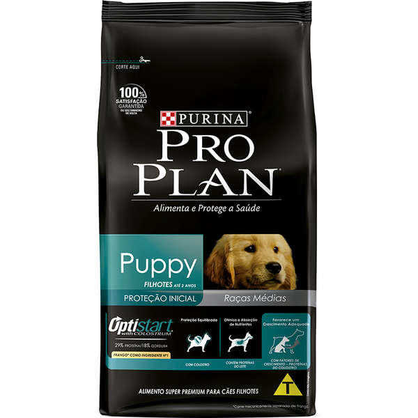 Ração Nestlé Purina Pro Plan Frango Cães Filhotes Raças Médias 15kg