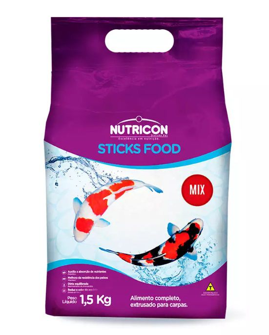 RACAO NUTRICON STICKS FOOD MIX 1,5KG