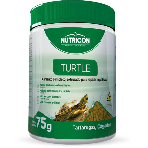 RACAO NUTRICON TURTLE 75GR