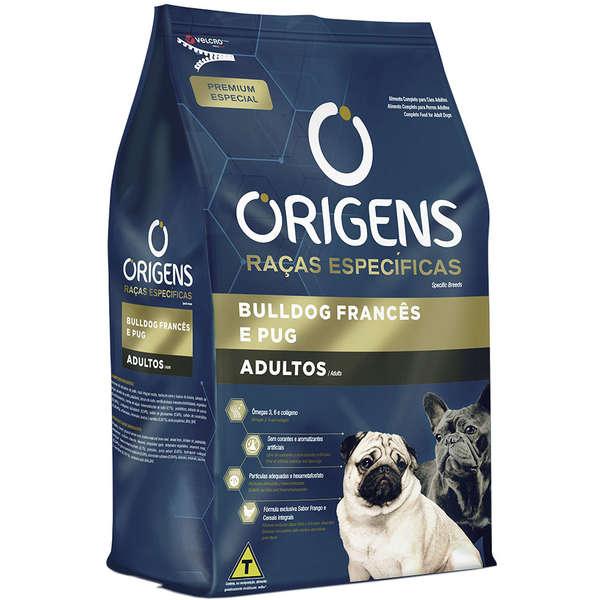 Ração Origens Cães Adultos Bulldog Francês e Pug 1kg