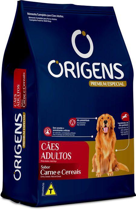 Racao Origens Caes Adultos Carne 15kg