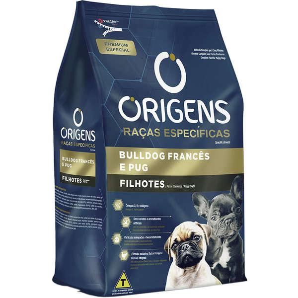 Ração Origens Cães Filhotes Buldog Frances- Pug 1kg