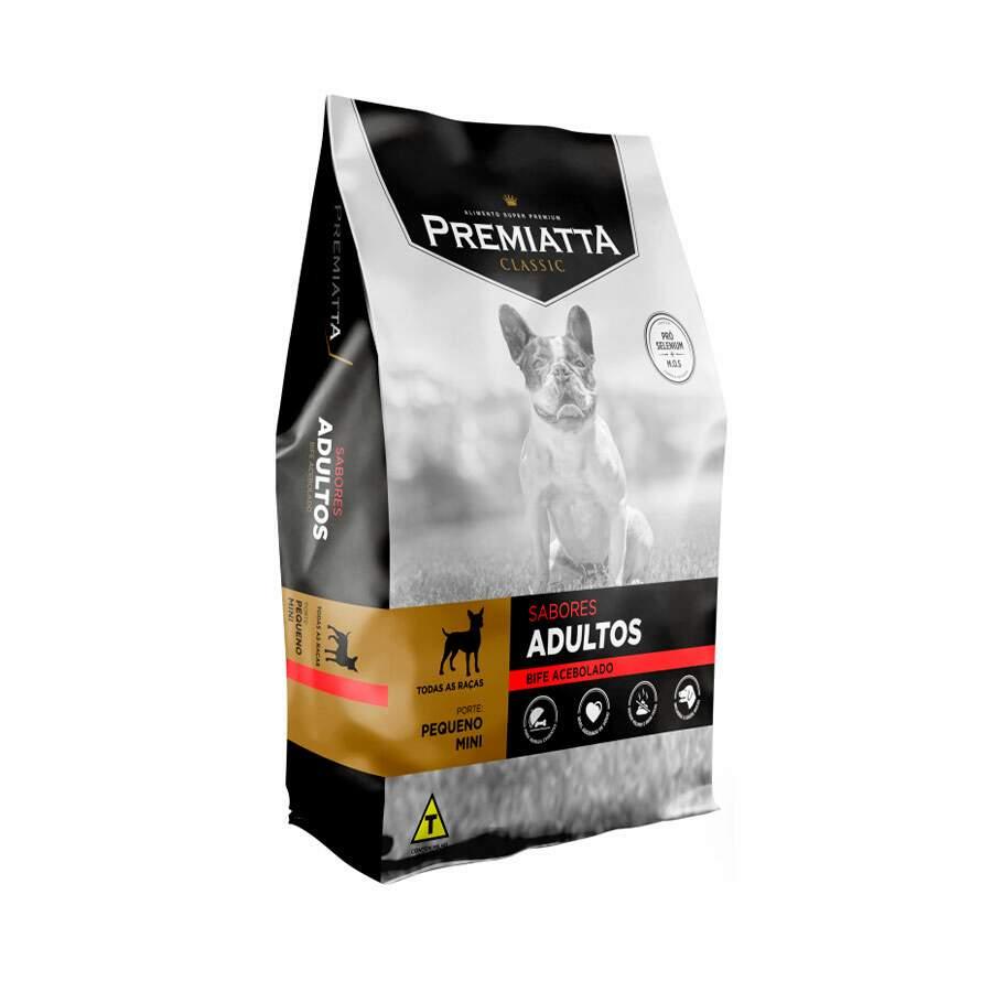 Ração Premiatta Classic Bife Acebolado Cães Adulto Raça Mini e Pequena 3kg