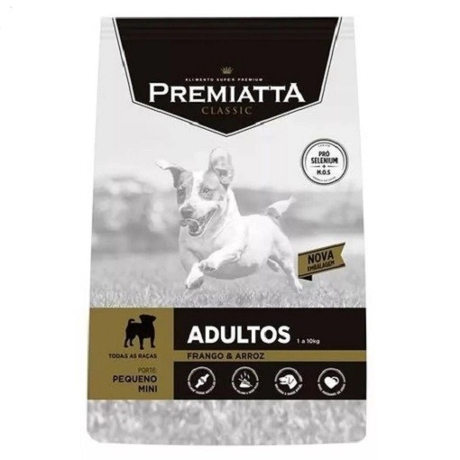 Ração Premiatta Classic Frango e Arroz Cães Adultos Raça Mini e Pequena 3kg