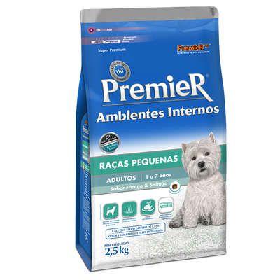 Ração Premier Ambientes Internos Cães Adultos Frango e Salmão - 2,5 KG