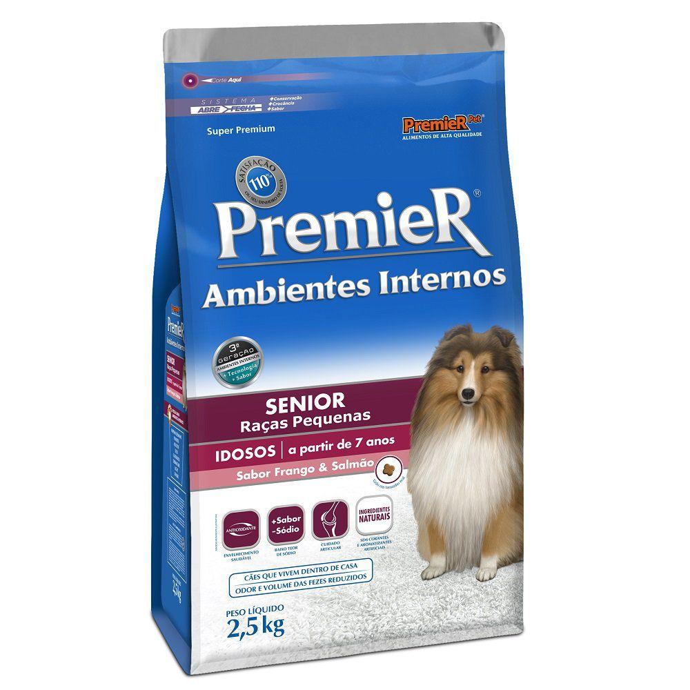 Ração Premier Ambientes Internos Cães Sênior - 2,5 KG