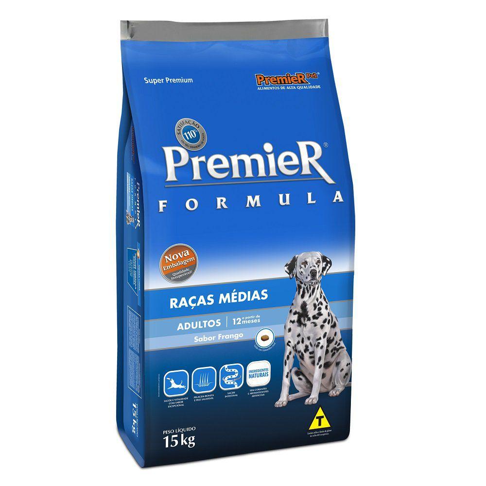 Ração Premier Fórmula Cães Adultos Raças Médias - 20 KG