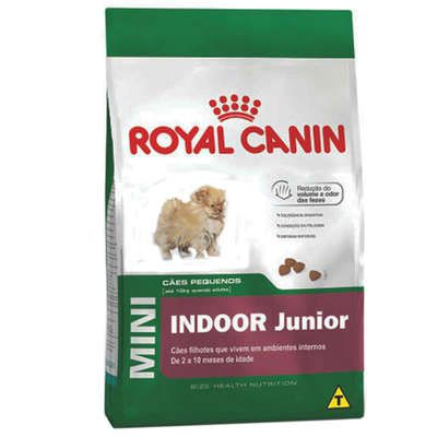 Ração Royal Canin Cães Mini Indoor Júnior - 7,5 KG