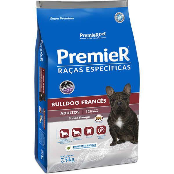 Ração Seca Premier Pet Raças Específicas Bulldog Francês Cães Adultos 7,5Kg