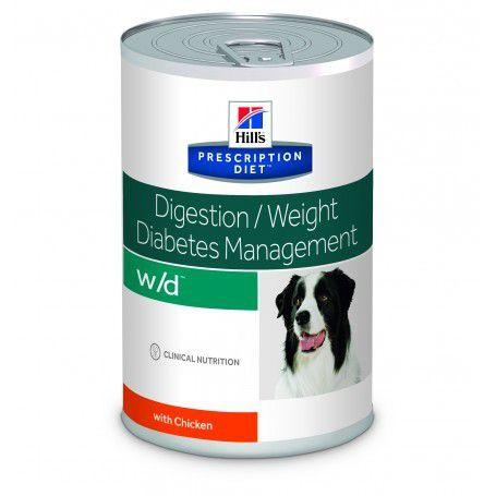 Ração Úmida Hills W/D Controle do Peso e Glicêmico para Cães Lata - 370g