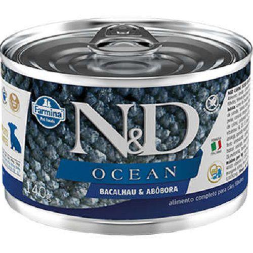 Ração Úmida N&D Ocean Cães Filhotes Sabor Bacalhau 140g