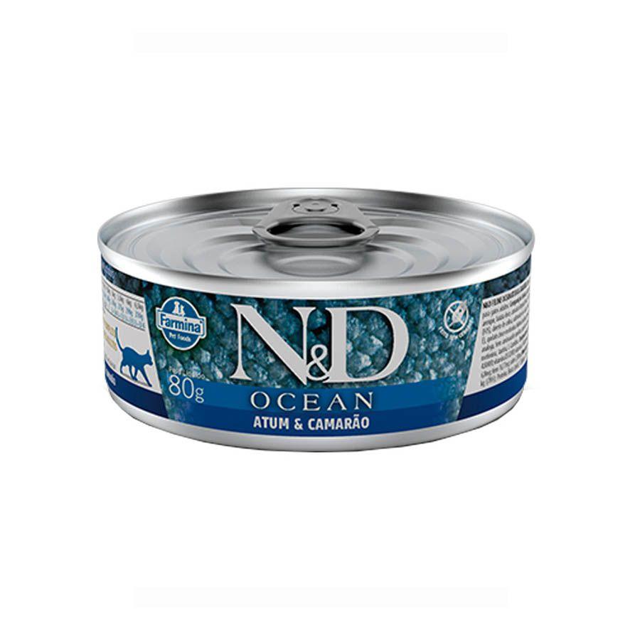Ração Úmida N&D Ocean Gatos Adultos Sabor Atum 80g