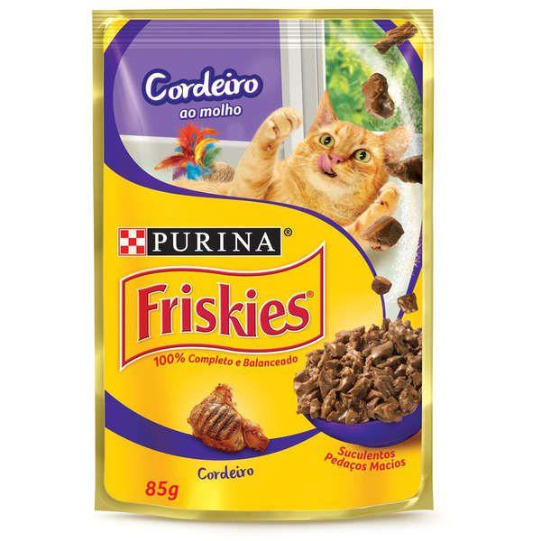 Ração Úmida Nestlé Purina Friskies Sachê Cordeiro ao Molho para Gatos 85gr