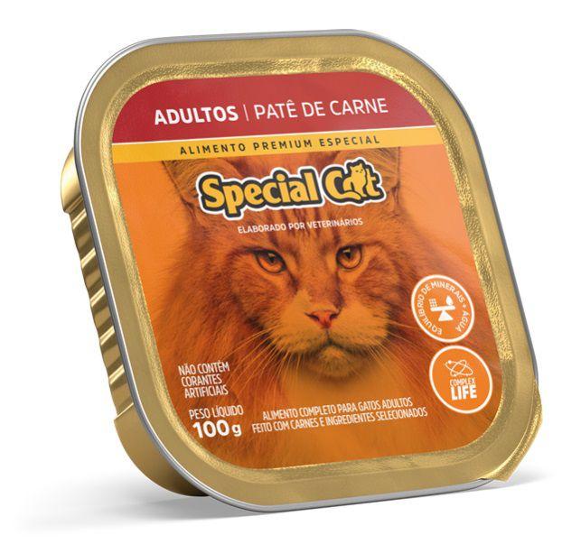 Ração Úmida Special Cat Patê Carne Gatos Adultos 100Gr