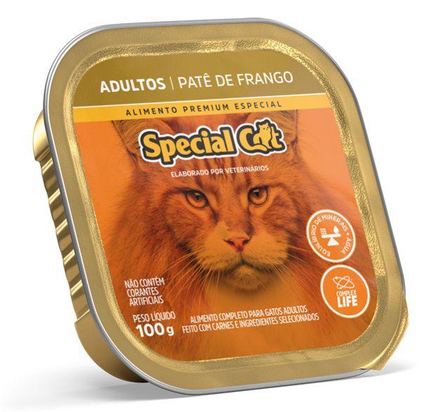 Ração Úmida Special Cat Patê Frango Gatos Adultos 100Gr